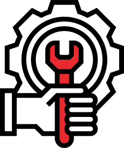 Wrench in a Gear Symbol Representing the Service Department