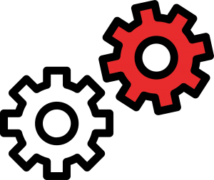 Symbols of Two Gears Representing the Parts Department
