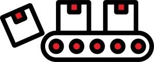 Boxes being Conveyed Symbol
